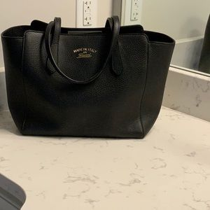 Gucci black bucket purse